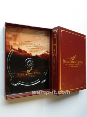 PU box for Blu-Ray, CD, DVD disc