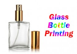 blank fragrance glass bottle with full color printing