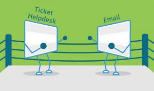 boxing ring comparison for email vs ticket helpdesk