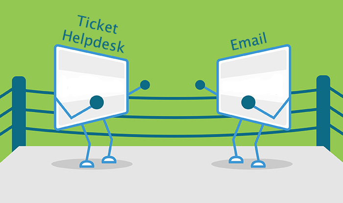 Customers questions best answered by helpdesk? or email?