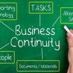 business continuity plan on chalk board size 285x200