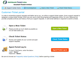 customer-ticket web demo: one-stop portal thumbnail