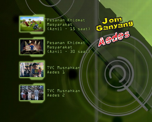 dvd menu malaysia health ministry jom ganyang aedes