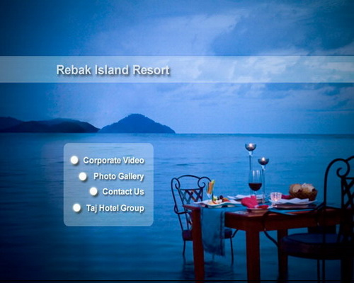 dvd menu rebak island resort