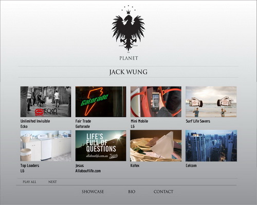 dvd menu showcase jack wung