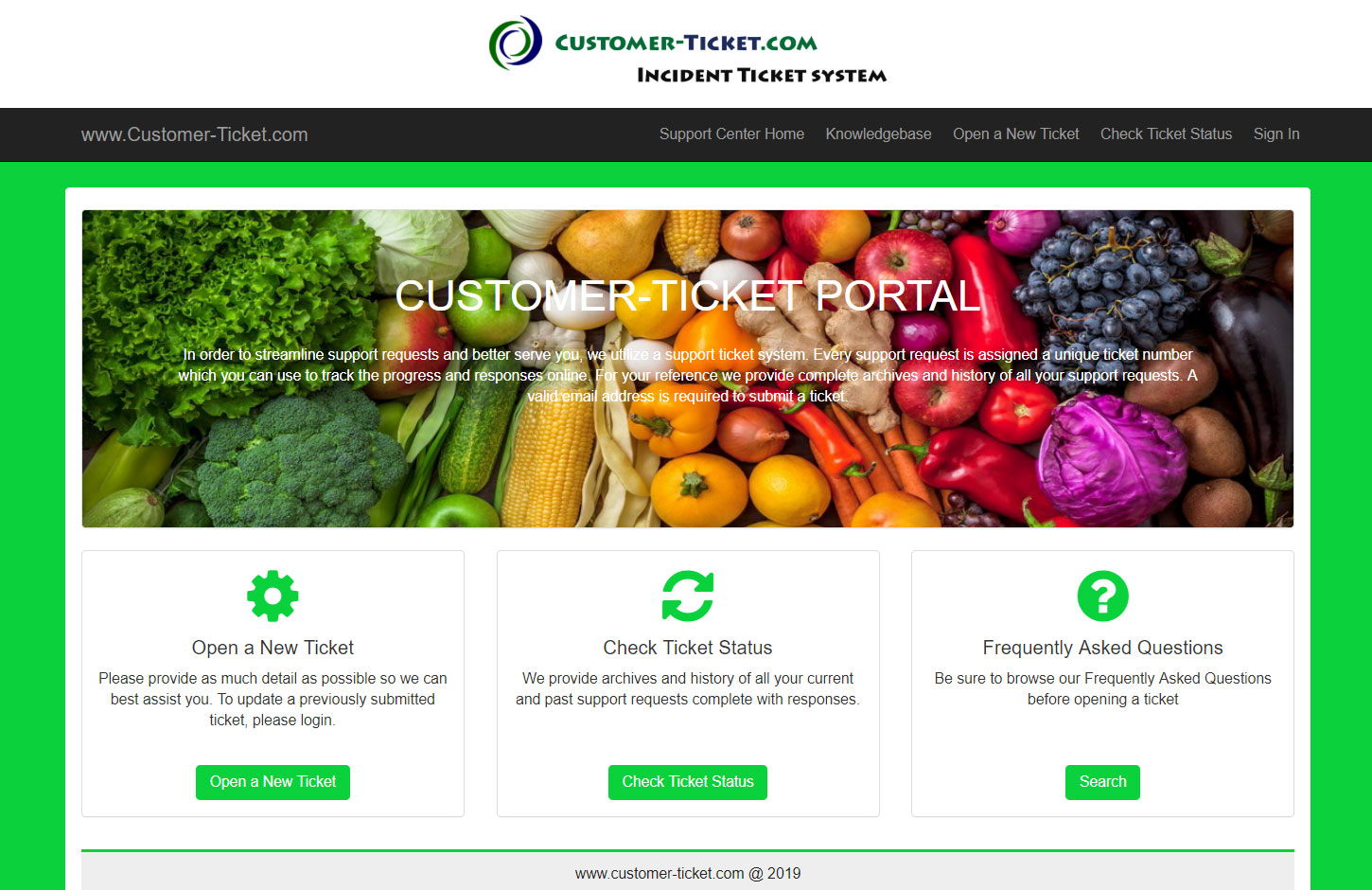 helpdesk color theme green RGB code 0ad13c for healthy food business
