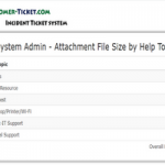 helpdesk system admin report attachment size by topic