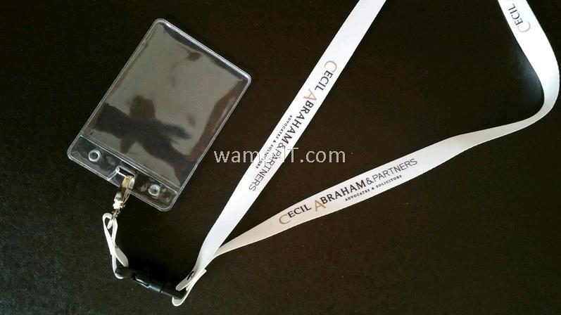 heat transfer lanyard for cecil abraham law firm in malaysia