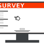online survey on lcd screen