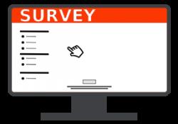 online survey on lcd screen
