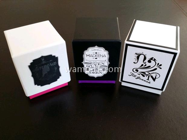 perfume bottle box packaging - 3 designs