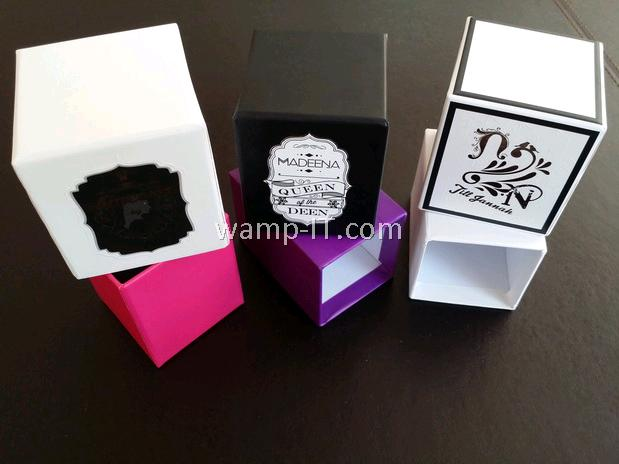 perfume bottle box packaging - various colors