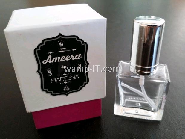 perfume bottle box and pink box