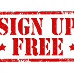 sign up free in red box