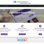 ticket helpdesk responsive web, design theme 2 in desktop view
