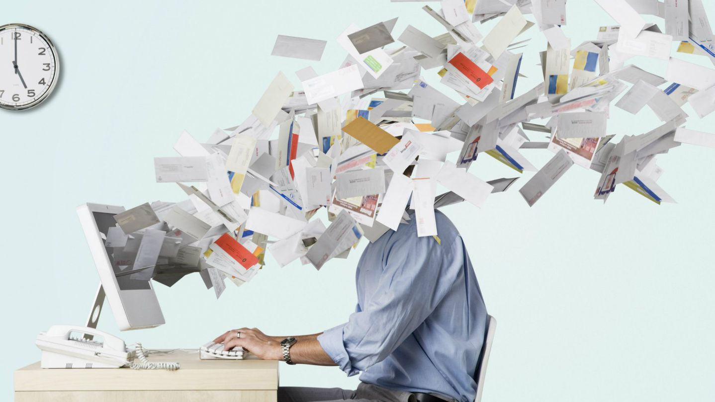 too many emails throw at staff