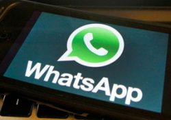 whatsapp icon on smartphone