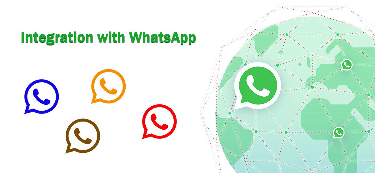 whatsapp notification on green globe