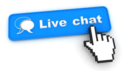 Live Chat, no phone call charges incurred!